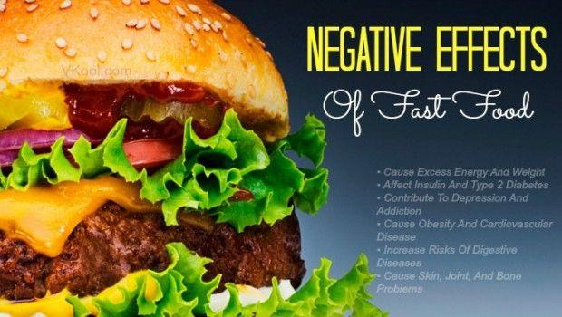 6 Os efeitos negativos da fast food