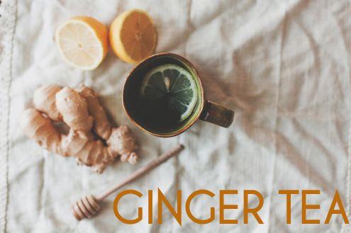 Ginger chá para perder gordura da barriga