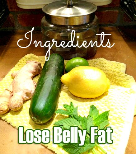 Ervas infundido água para perder gordura da barriga