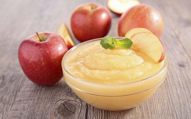 comida para bebé saudável - maçã
