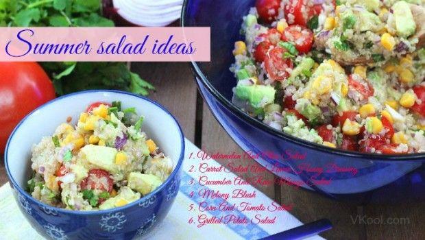 Ideias salada de verão saudáveis: 31 receitas fáceis