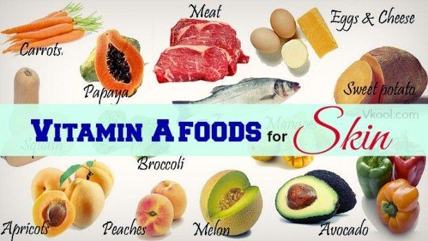 Lista de 11 melhores alimentos vitamina a para a pele